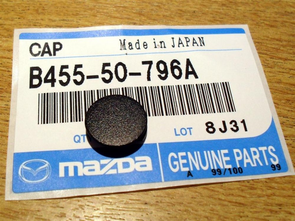 Cap, covers screws on windscreen cowl, small, Mazda MX-5 mk1 & mk2, B45550796A